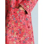 Floral Frog Button Long Maxi Coat for sale
