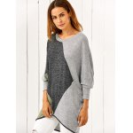 cheap Batwing Sleeve Smock Pullover