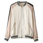 Stand Neck Fish Embroidered Souvenir Jacket