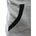 Hooded Buttons Embellished Zip-Up Hoodie photo
