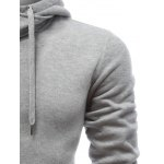 Hooded Buttons Embellished Zip-Up Hoodie for sale