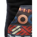 best Tribal Print Drawstring Zip Up Hoodie