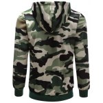 Hooded Camouflage Splicing Long Sleeve Hoodie deal