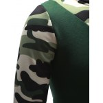 Hooded Camouflage Splicing Long Sleeve Hoodie for sale