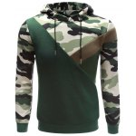 Buy Hooded Camouflage Splicing Long Sleeve Hoodie S ACU CAMOUFLAGE