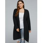 Plus Size Long Asymmetric Cardigan