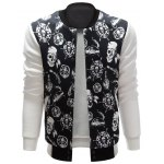cheap Stand Collar Skull Pirate Print Jacket