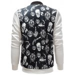 Stand Collar Skull Pirate Print Jacket deal