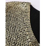 V Neck Side Slit Gilding Sweater deal