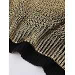 best V Neck Side Slit Gilding Sweater