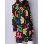Button Up Floral Padded Coat deal