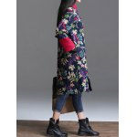 best Floral Padded Longline Coat