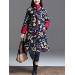 Floral Padded Longline Coat for sale