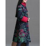 cheap Printed Longline Quilted Coat
