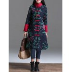 Printed Longline Quilted Coat for sale