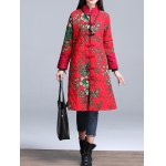 Stand Collar Printed Padded Coat for sale