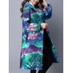 cheap Tie Dyed Hooded Padded Coat