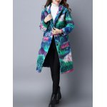 Tie Dyed Hooded Padded Coat for sale