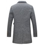 cheap Lapel Buttoned Tweed Coat