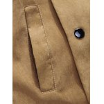 Plush Inside Snap Button Zip Up Hooded Coat For Men for sale