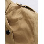 Plush Inside Snap Button Zip Up Hooded Coat For Men deal