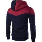 cheap Contrast Color Drawstring Pullover Hoodie
