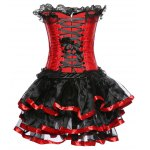 Strapless Layered Lace Spliced Corset deal