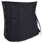 cheap Strapless Striped Lace-Up Corset