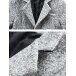 Front Pocket Single-Breasted Lapel Coat deal
