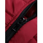 Zipped Stand Collar Padded Coat deal