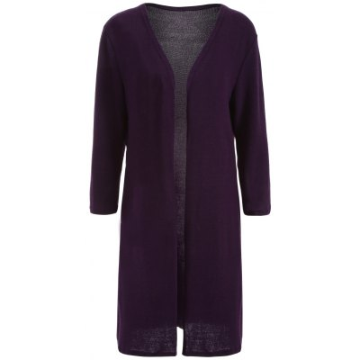 Long Sleeve Knee Length Cardigan