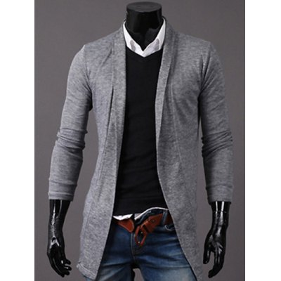 Slim Open-Front Cardigan