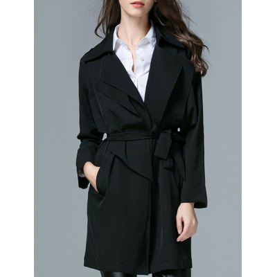 Belted Trench Wrap Coat