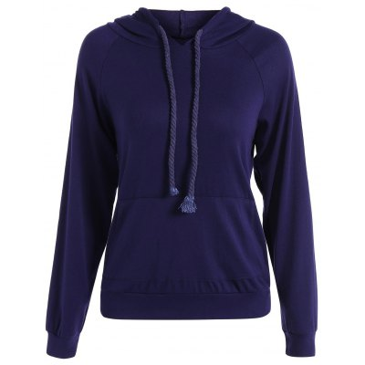 Relaxed String Hoodie