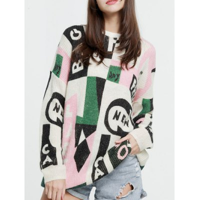 Dropped Shoulder Graphic Sweater