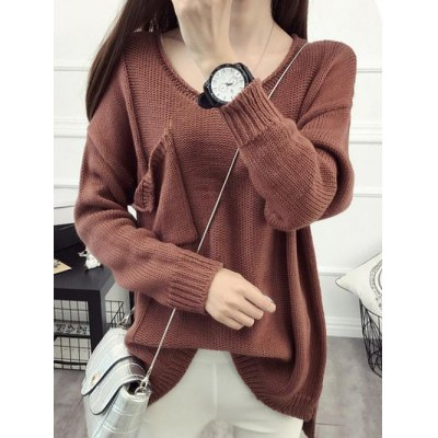Pullover Knitwear with Front Pocket
