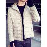 Zip-Up Camouflage Hooded Quilted Jacket