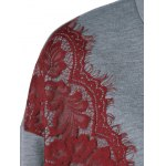 Lace Splicing Sweatshirt deal
