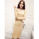 Knitted Furcal Bodycon Dress deal