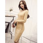 Knitted Furcal Bodycon Dress for sale