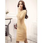 best Knitted Furcal Bodycon Dress
