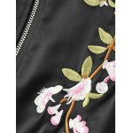 best Stand Neck Floral Embroidered Fall Bomber Jacket