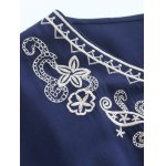 Lace Trim Embroidered Cotton Peasant Blouse deal