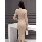 Slimming Beaded Design Knitted Bodycon Dress for sale