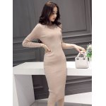 Slimming Beaded Design Knitted Bodycon Dress deal