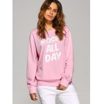cheap Rose All Day Letter Sweatshirt