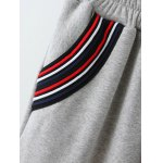 Varsity Striped Fleece Gym Outfits photo