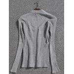 cheap V Neck Long Sleeve Pullover Knit Sweater