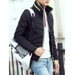 Contrast Zipper Stand Collar Padded Jacket photo