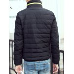 best Contrast Zipper Stand Collar Padded Jacket